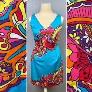 Lilly Pulitzer Turqouise Print Kiki Mini Dress 8
